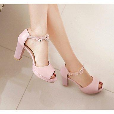 LvYuan Da donna Sandali Comoda Cinturino alla caviglia Suole leggere Pelle Estate Casual Formale Comoda Cinturino alla caviglia Suole leggere blushing pink
