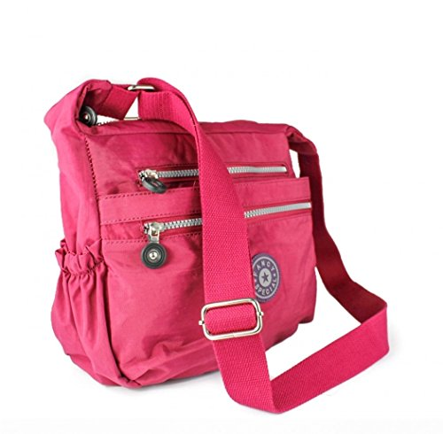 Craze London, Borsa a tracolla donna Red Wine