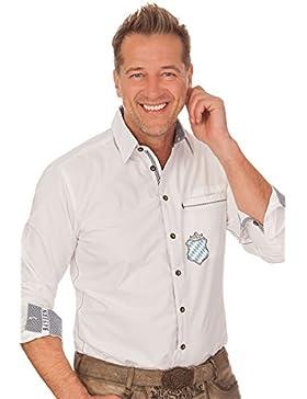 Trachtenhemd mit langem Arm - FYNN - weiß