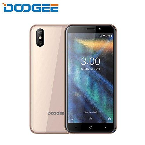 DOOGEE X50 3G Smartphone, 5,0 Zoll HD Display, MT6580M Quad Core, 1 GB RAM + 8 GB ROM, 5.0MP Rückfahrkameras, Android 8.1, Dual SIM