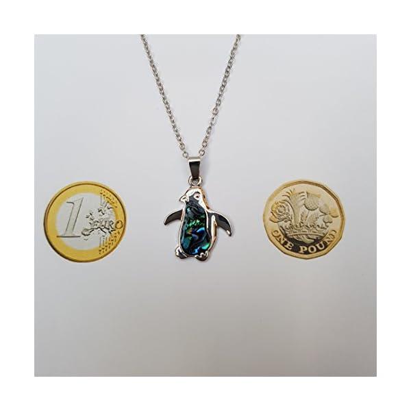 f1a71bbf09fa Kiara joyas pingüino en caja Set de Colgante con incrustaciones natural de Azul  Verdoso Paua ...