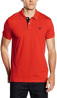 Gant Men's Contrast Collar Pique Ss Rugger, Polo para Hombre