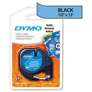6 Pack LetraTag Plastic Label Tape Cassette, 1/2in x 13ft, Ultra Blue by DYMO (Catalog Category: Labels, Label Makers, Tags & Stamps / Label Makers) by DYMO