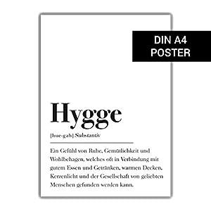 Hygge Definition (Deutsch): DIN A4 Poster (Skandinavisch, Schweden Stil)