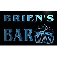 w011303-b BRIEN'S Nom Accueil Bar Pub Beer Mugs Cheers Neon Sign Biere Enseigne Lumineuse
