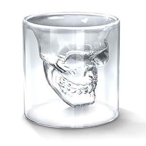 "Verre Alcool ""Tete Mort"" Head Shot Skull Crystal Glass Crane Cristal Coupe vodka verrerie"