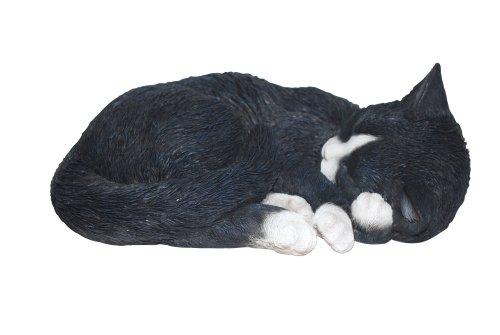 Vivid Arts Ltd - Decorative figure of sleeping cat, color (black and white)