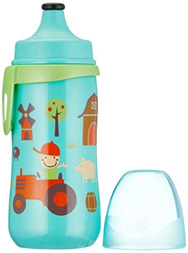 nip Kids Cup Sportflasche mit Push-Pull, 18 Monate+, 330 ml, Boy