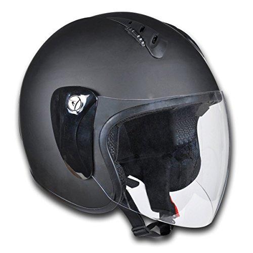 vidaXL Motorrad Sturzhelm Motorradhelm Rollerhelm XL schwarz 150017