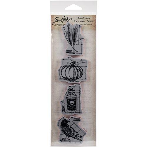 (Unbekannt Stampers Anonymous_AGW Stempel, Design: Fresh Brewed, Motiv: Entwurf/technische Zeichnung, Mini-Streifen, Grau Halloween grau)