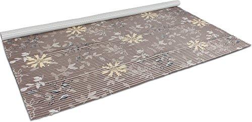 GearUp 130 cm Breiten Badvorleger/Rutschfeste Matte/Bodenbelag aus PVC Weichschaum, wasserabweisend und rutschhemmend für Bad, Dusche oder Küche Farbe Vintage Flower Größe 150 cm