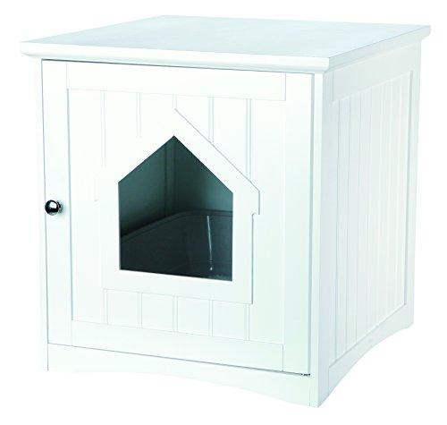 Mantén a tu gato y a ti feliz con esta elegante caja de madera y arenero para gatos. La caja de madera tiene un diseño de paneles y viene en opciones de color clásico para que sea segura de usar en cualquier hogar. La puerta con cierre magnético se a...