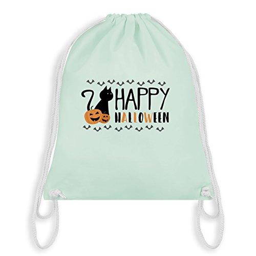 (Shirtracer Halloween - Happy Halloween - Unisize - Pastell Grün - WM110 - Turnbeutel I Gym Bag)