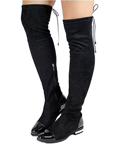 Generic ,  Damen Overknee-Stiefel Schwarz