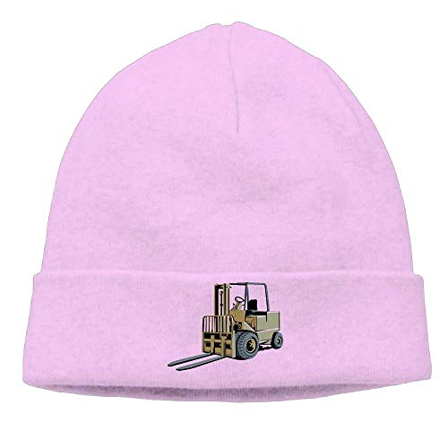Nazhihat Momen's Forklift Truck - Lift Truck - Fork Truck Soft Skiing Black Beanies Knit Hat