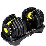 GDSZ Pesas Ajustables con Mancuernas Establecidas para Ejercicios En El Gimnasio En Casa Entrenador Personal para Músculos,Yellow