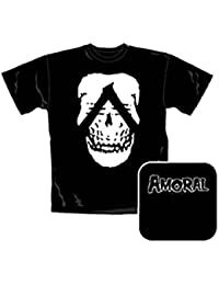"Amoral ""Skull"" Ladies Black T-Shirt"