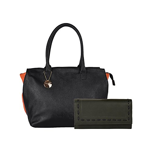 Venicce Women's Shoulder Bag Combo (Black) (VN156BLKCOM27)