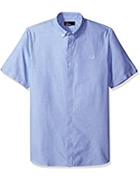 Fred Perry Men's Short Sleeve Oxford Casual Shirt