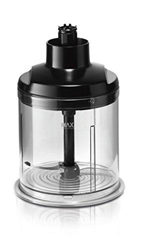 Bosch MaxoMixx MSM88160 - Batidora de mano, 800 W, regulador electrónico de velocidad, cúpula con cuatro cuchillas, con picador y varilla batidora, color negro y gris