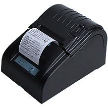 Floureon ZJ-5890T - Impresora Térmica de Recibos y Billetes (58MM, 90mm/sec, ESC/POS, Mini USB Portátil, Conpartible con Win XP/Vista/Win 7/Win 8,LINUX), Negro