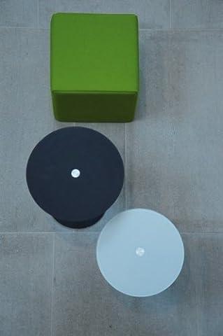 Perfect table basse couleur (verre) : blanc mat-taille : 48 x h 45 cm cm ø