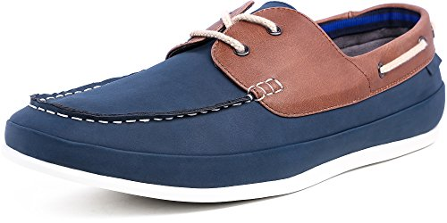 SHENBO Blue Men's Boat Shoes (UK 9 EUR 43, Blue)