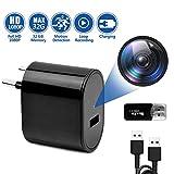 Mini Spionage Kamera versteckt in Ladegerät, Full HD 1080P ÜberwachungsKamera mit Video-Aufnahme/Bewegungserkennung/USB Lade-Funktion/Loop-Aufnahme