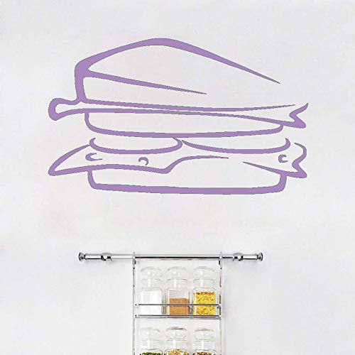 Köstliche sandwich lebensmittel vinyl europäischen stil entfernbare wandaufkleber diy wohnkultur wasserdicht pvc küche wandkunst wand ~ 1 96 * 58 cm -