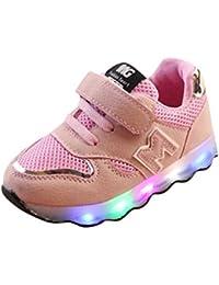 huateng LED Zapatos Deportivos Luminosos - Niños Niños y Niñas Zapatos Deportivos Antideslizantes Zapatos Para Niños