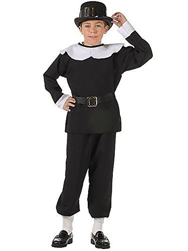 RG Costumes Pilgrim Boy Costume, Black/White, Small by RG - Kinder Pilgrim Boy Kostüm