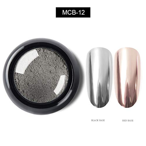 Heller Metallnagellack, Spiegeleffekt, Chromnagellack, hohe Sättigung, leicht zu färben und langlebiges Nagelpulver ,Watopi
