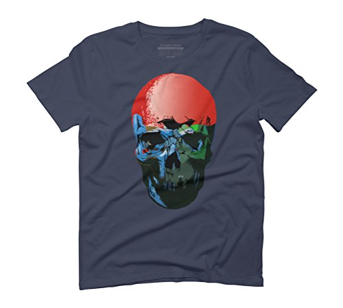 undead Men's Graphic T-Shirt - Design By Humans Navy