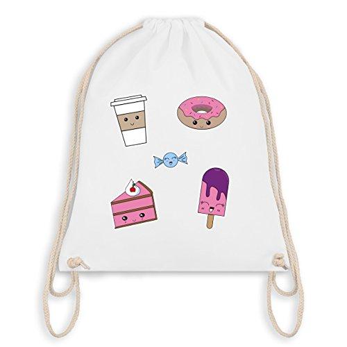 Comic Shirts - Kawaii Sweets - Unisize - Weiß - WM110 - Turnbeutel & Gym Bag