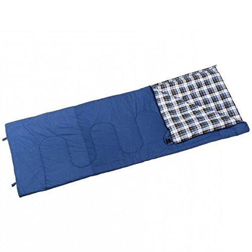 Berger Deckenschlafsack Camper, blau, L 210 x B 80 cm, Koppelbar, inkl. Packsack, Schlafsack