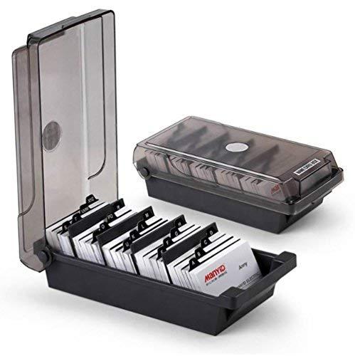 SFQMT-Boîte de rangement pour 500cartes de visite, intercalaires, onglets noir