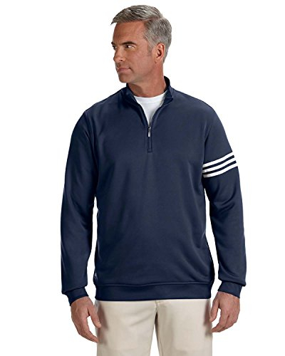 Men's climalite� 3-Stripes Pullover NAVY/ WHITE 3XL (Windshirt Adidas)
