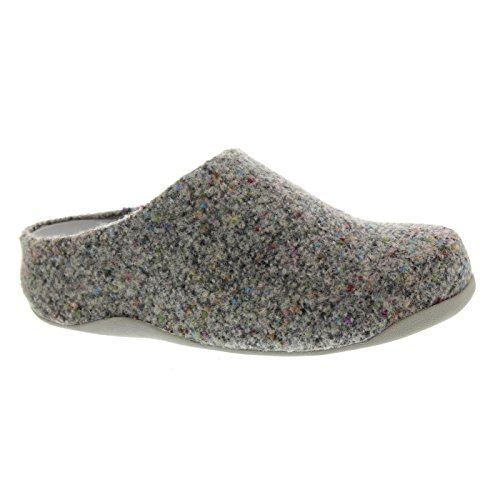 FitFlop™ Women's Shuv™ Felt Slip On Clog Soft Grey Size 6 (Fitflop Shuv Frauen)