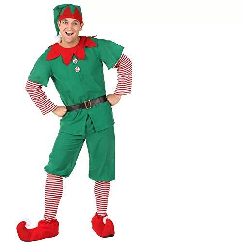 thematys Elfen-Kostüm Weihnachtskostüm - Wichtel Weihnachtself Kostüm für Damen, Herren & Kinder - perfekt für Weihnachten, Karneval & Cosplay (170cm bis 180cm, - Männlich Weihnachten Kostüm
