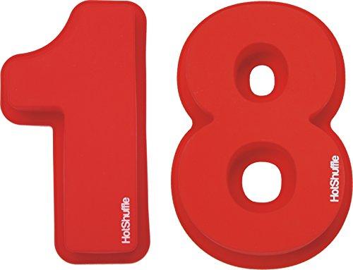 Große Silikon Anzahl 18 Kuchenform Backen Geburtstag Jubiläum Geburtstagstorte (Anzahl 100 Kuchenform)