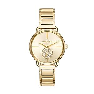 Michael Kors Damen Analog Quarz Uhr mit Edelstahl Armband MK3639