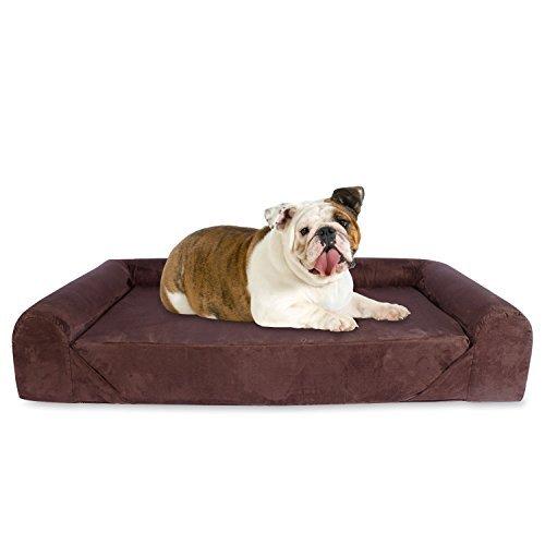 KOPEKS-Sofa-Camas-de-Lujo-para-Perros-y-Gatos-Mascotas-Colchn-con-Memoria-Viscoelstica-Ortopdico-Varios-Tamaos-Marrn-Oscuro