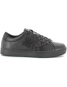 Sneaker bassa con glitter donna suola in gomma 724108