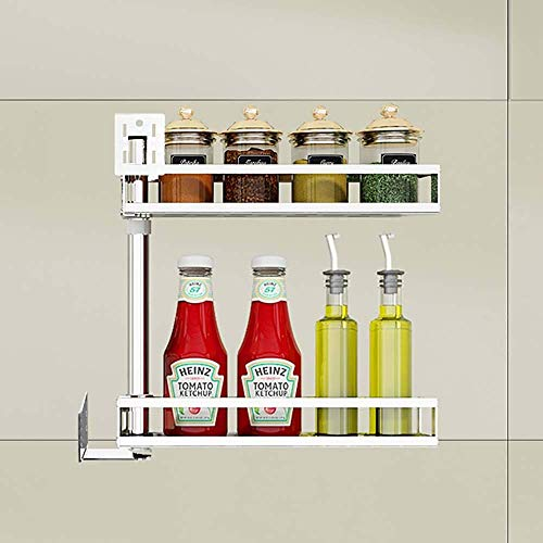 Edelstahl Punch-Free Kitchen Corner Racks Wand drehbare Gewürzregal Wand Storage Supplies (Größe: 2 Schicht) - Selbst Reinigen Sie Ofen-racks