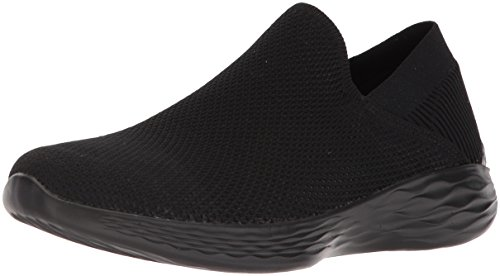 Skechers Damen You-Rise Slip on Sneaker, Schwarz (Black), 38.5 EU