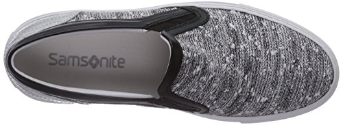 Samsonite Nantes Low 1616 Fabric/Lame' Black/Silver, Baskets Basses femme Multicolore - Multicolore (BLACK/SILVER)