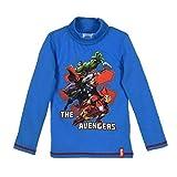 Avengers Langarmshirt Jungen Marvel Rundhalsausschnitt (Blau, 104-110)