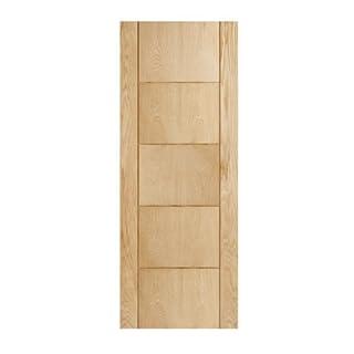 Internal Oak Fire Door, Fire Door FD30, 1981 x 838 x 44mm, 33? Oak Door 5 Groove