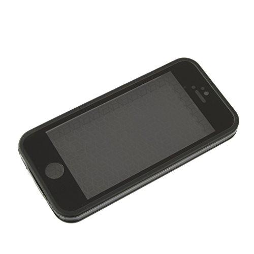 Wasserdichte Handy Case Cover Schutzhülle Tasche Kastenabdeckung für Iphone 5 5s - Schwarz Schwarz
