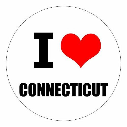 I love Connecticut Hartfort in 2 Größen erhältlich Aufkleber mehrfarbig Sticker Decal